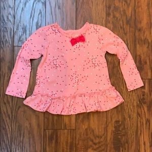 Girls Polka Dot Long Sleeve with Bow